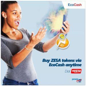 Ecocash announces its new option to purchase electricity tokens
